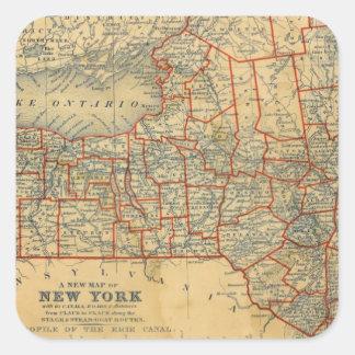 Nueva York 5 Calcomanía Cuadradas Personalizada