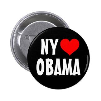 Nueva York ama a Obama Pin