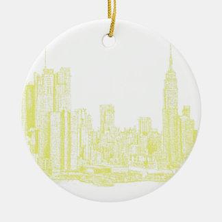 Nueva York amarillo claro Ornamentos Para Reyes Magos
