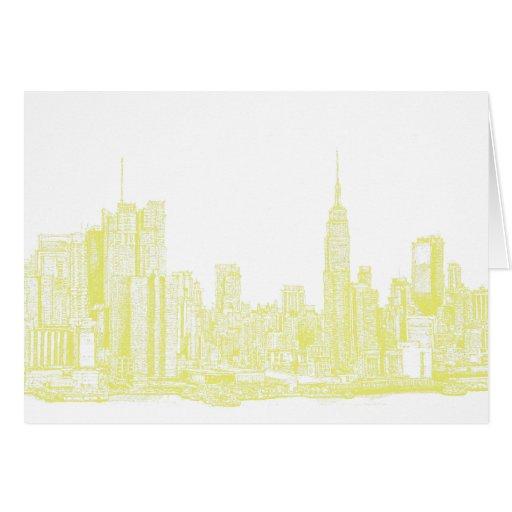 Nueva York amarillo claro Felicitaciones