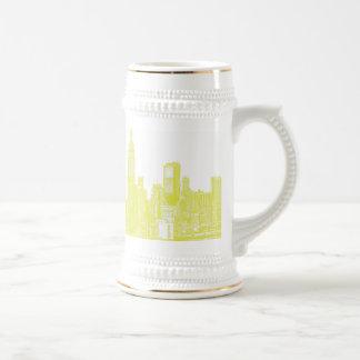 Nueva York amarillo claro Tazas De Café