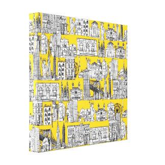 Nueva York/amarillo Impresiones De Lienzo