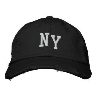 NUEVA YORK APENÓ EL CASQUILLO DE LA TELA CRUZADA GORRO BORDADO