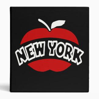 "Nueva York Apple grande, arco cortado, fondo negro Carpeta 1"""