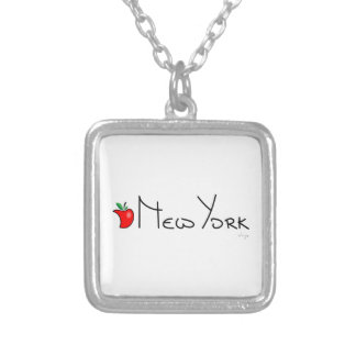 Nueva York Apple grande Colgante Cuadrado