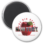 ¡Nueva York Apple rojo - 9/11 recordado para siemp Imán Redondo 5 Cm