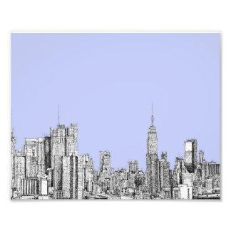 Nueva York azul claro Arte Fotografico