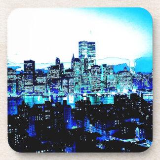 Nueva York azul Posavasos