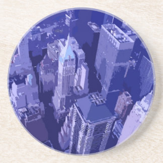 Nueva York azul Posavasos Diseño