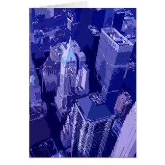 Nueva York azul Tarjeta