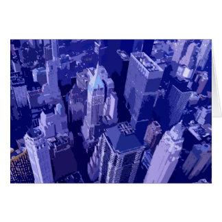 Nueva York azul Tarjeta De Felicitación