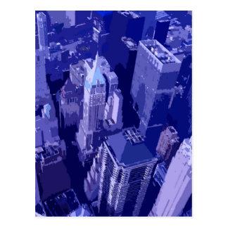 Nueva York azul Tarjetas Postales