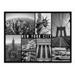Nueva York blanco y negro Postales