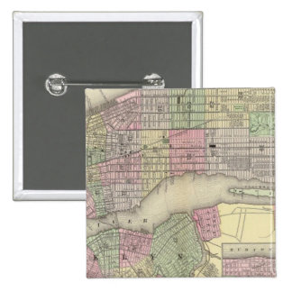 Nueva York, Brooklyn 2 Pin Cuadrada 5 Cm