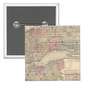 Nueva York, Brooklyn 3 Pin Cuadrada 5 Cm