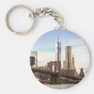 Nueva York Brooklyn puente Llavero Redondo Tipo Pin