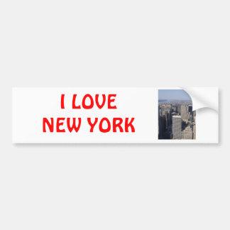 Nueva York Etiqueta De Parachoque