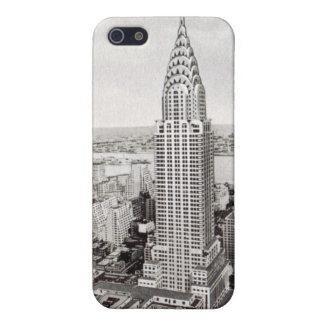 Nueva York Chrysler que construye la caja del ipho iPhone 5 Fundas