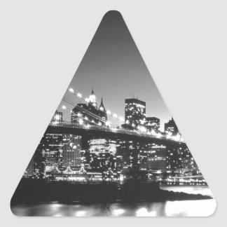 Nueva York Cİty Pegatina Triangular