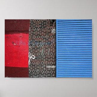 Nueva York coloreó la pared Impresiones