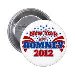 Nueva York con Romney 2012 Pin