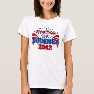 Nueva York con Romney 2012 Playera