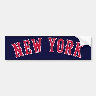 Nueva York contra los rivales de Boston Pegatina Para Auto