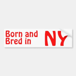 Nueva York crió al pegatina (de parachoques) Pegatina Para Auto