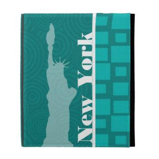 Nueva York; Cuadrados de la turquesa; Retro