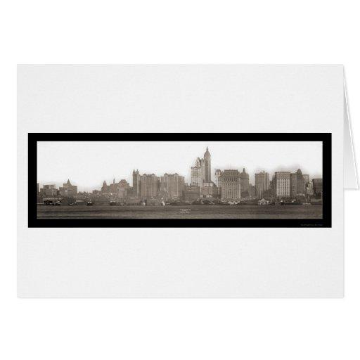 Nueva York de la foto 1910 de Jersey City Tarjeta De Felicitación