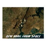 Nueva York del espacio Tarjetas Postales
