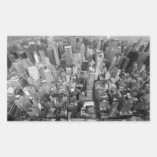 Nueva York desde arriba Pegatina Rectangular