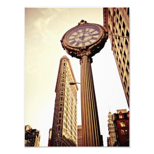 Nueva York - edificio y reloj de Flatiron Cojinete