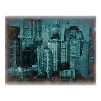 Nueva York - efecto dañado de la foto Tarjetas Postales