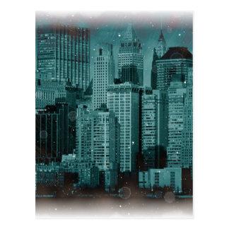 Nueva York - efecto dañado de la foto Postal