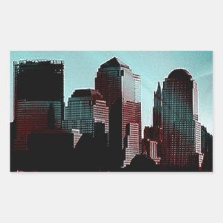 Nueva York, efecto digital, aguamarina Etiquetas