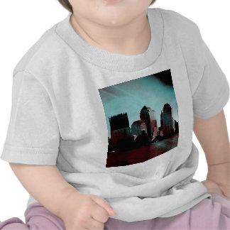 Nueva York, efecto digital, aguamarina Camisetas