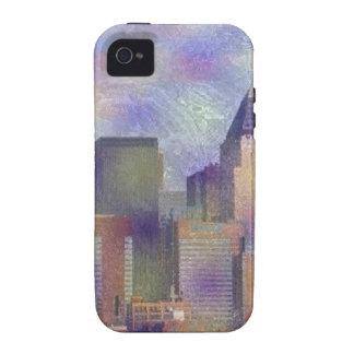 Nueva York, efecto pintado Case-Mate iPhone 4 Fundas
