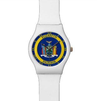 Nueva York el bandera personalizada estado del Relojes De Pulsera