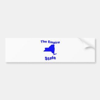 Nueva York: El estado del imperio Pegatina De Parachoque