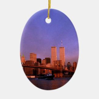 Nueva York el ornamento del recuerdo de las torres Adornos