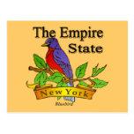 Nueva York el pájaro de estado del imperio Tarjeta Postal