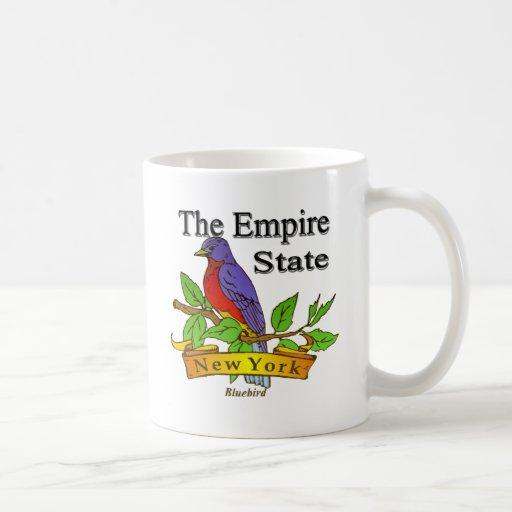 Nueva York el pájaro de estado del imperio Tazas