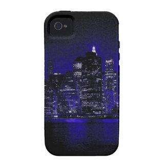 Nueva York en la noche Case-Mate iPhone 4 Carcasas