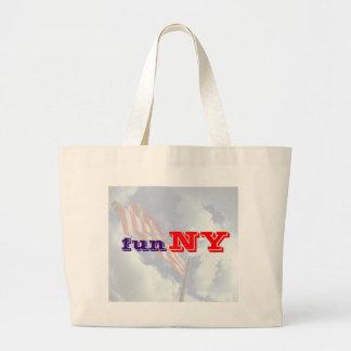 Nueva York es diversión - divertida Bolsas De Mano
