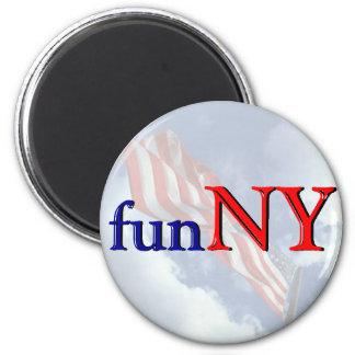 Nueva York es diversión - divertida Imán Redondo 5 Cm