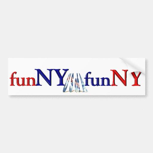 Nueva York es diversión - divertida Pegatina Para Auto