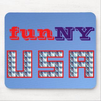 Nueva York es diversión - divertida Alfombrillas De Ratones