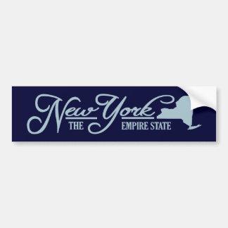 Nueva York (estado el mío) Pegatina Para Auto