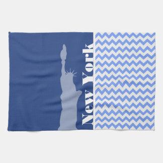 Nueva York, estatua de la libertad; Chevron azul Toalla